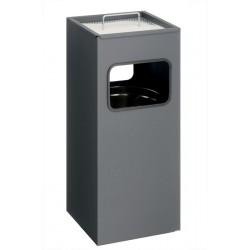 Kosz na śmieci 17 l, metalowy, kwadratowy, z popielnicą