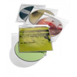 CD TOP COVER, kieszeナ� na CD z PP z kieszeniト� na dokumenty i paskiem na opis