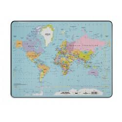 Podkład na biurko z mapą świata 530x400 mm