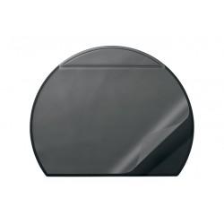 Podkład na biurko, półokrągły, przezroczysta okładka, 650x520 mm