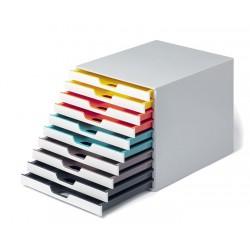 VARICOLOR MIX 10, pojemnik z dziesięcioma kolorowymi szufladkami. Wymiary: 280x292x356 mm (WxSxG)