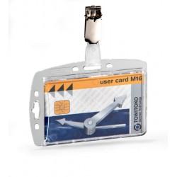 Etui do kart identyfikacyjnych 54x87 mm z klipem