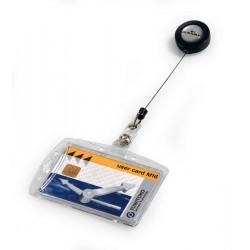 Etui do kart identyfikacyjnych 54x85 mm z mechanizmem ściągającym