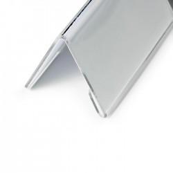 Identyfikator stołowy z akrylu 52/104x100 mm.