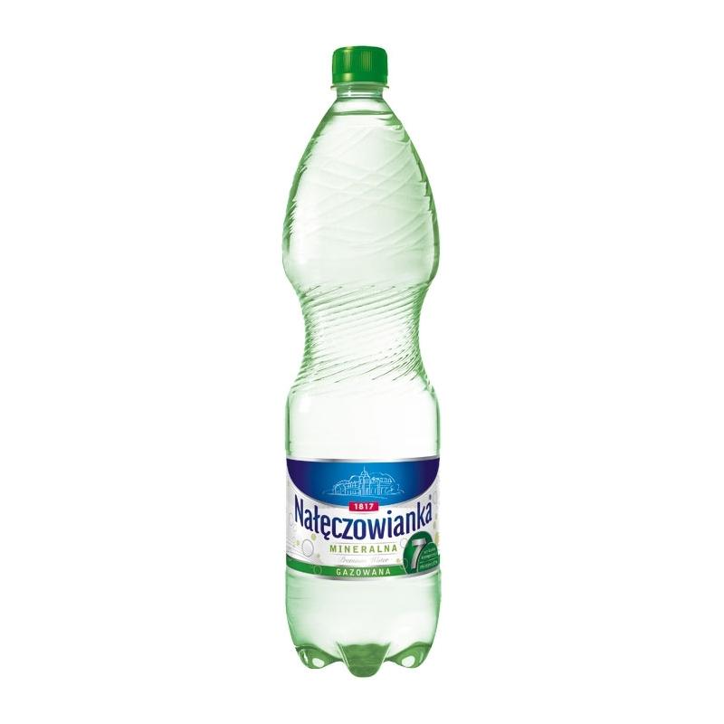 Woda mineralna Nałęczowianka gazowana 1,5 L, zgrzewka 6 szt.