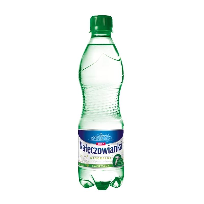 Woda mineralna Nałęczowianka gazowana 0,5 L, zgrzewka 12 szt.