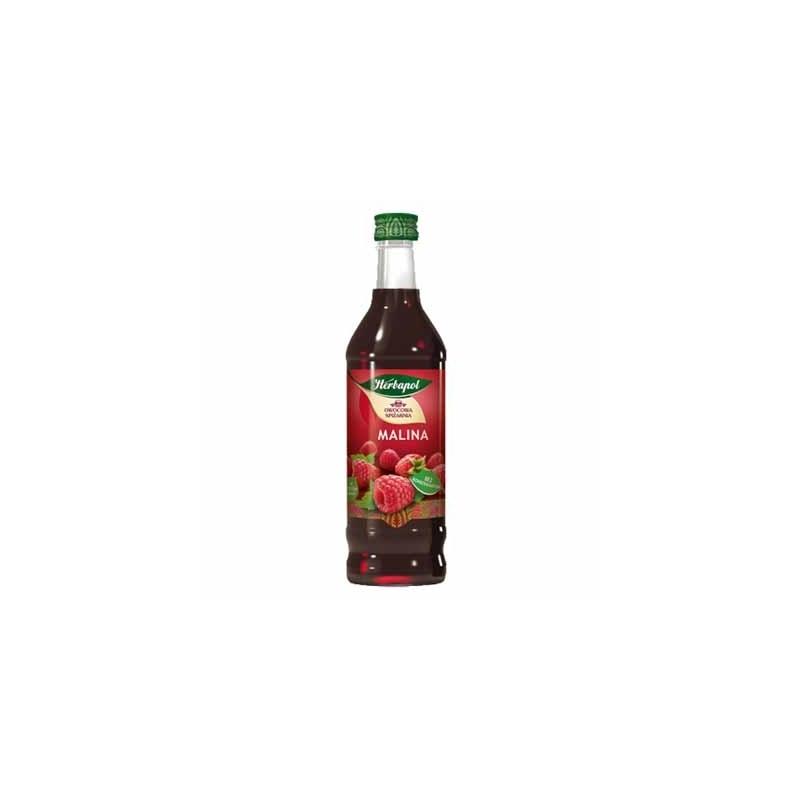 Syrop owocowy Herbapol malinowy 420ml