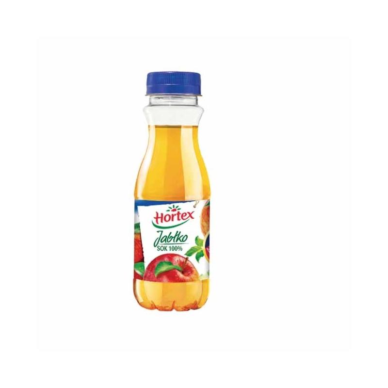 Sok 100% Hortex jabłkowy 300ml, butelka PET