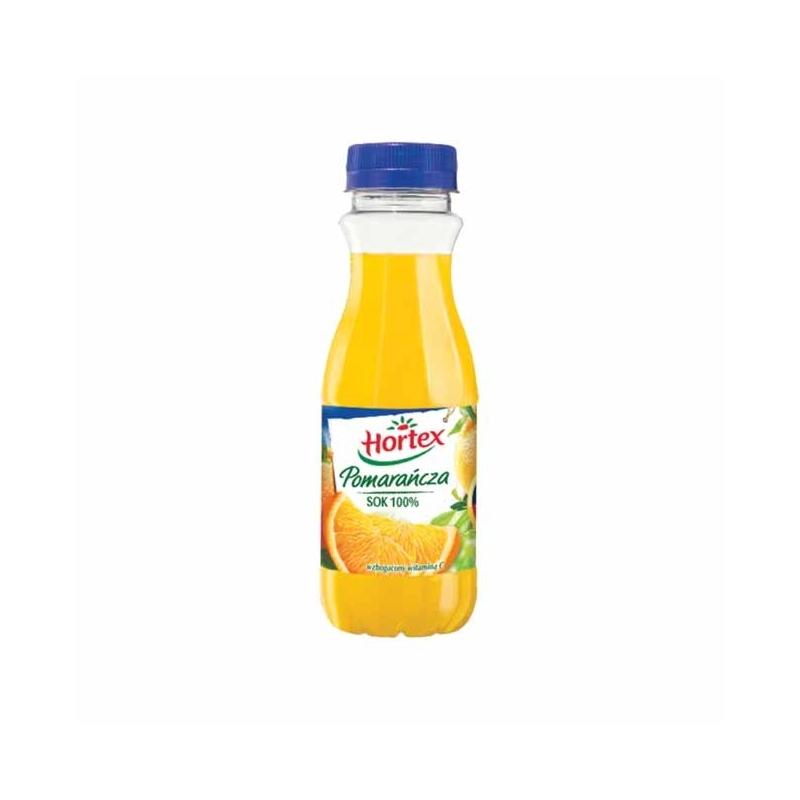 Sok 100% Hortex pomarańczowy 300ml, butelka PET
