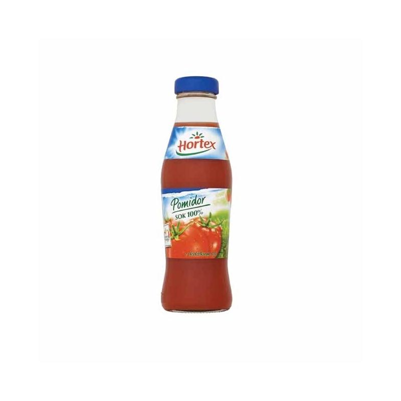Sok 100% Hortex pomidorowy, 250ml, butelka szklana