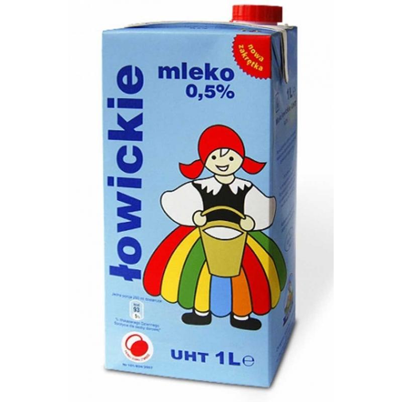Mleko UHT Łowickie 1 litr 0,5%