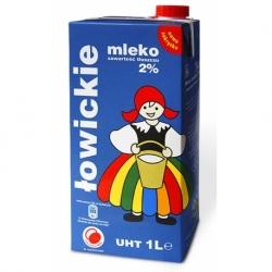 Mleko UHT Łowickie 1 litr 2%