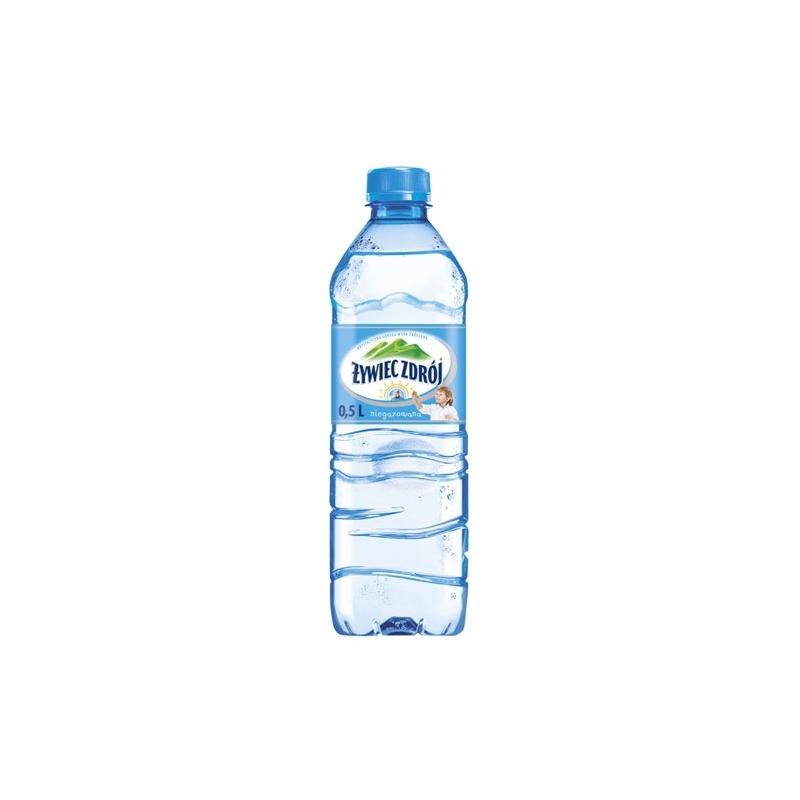 Woda źródlana Żywiec Zdrój 0,5 L, zgrzewka 12 szt. niegazowana
