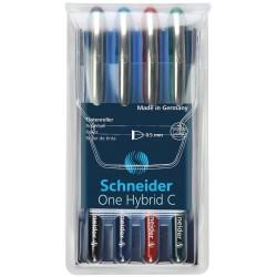 Pióro kulkowe Schneider One hybrid c komplet 4 kolory