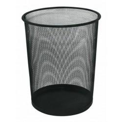 Kosz na śmieci okrągły, 12 litrów, czarny