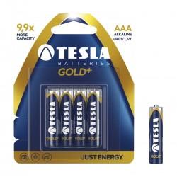 Bateria Tesla LR03 AAA gold+ LR03 4 szt. Alkaliczna blister foliowy