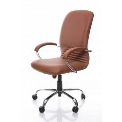 Fotel biurowy Mirage Steel SP-02 brト�zowy