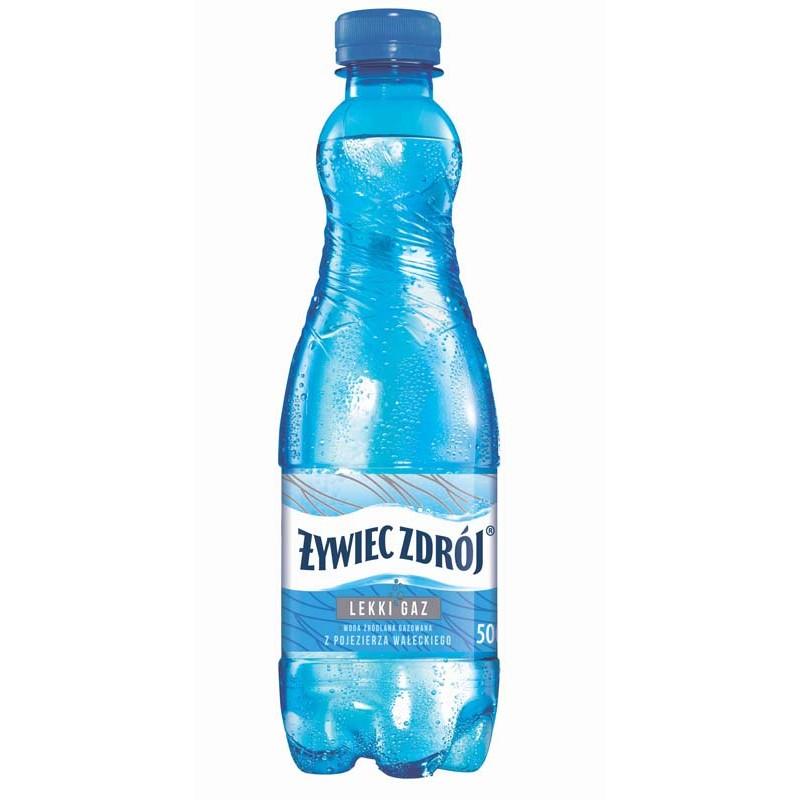 Woda ナサywiec zdrテウj 0,5l lekko gazowana ナコrテウdlana