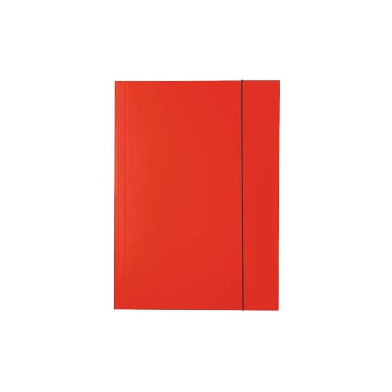 Teczka lakierowana A4 z gumką Esselte czerwona