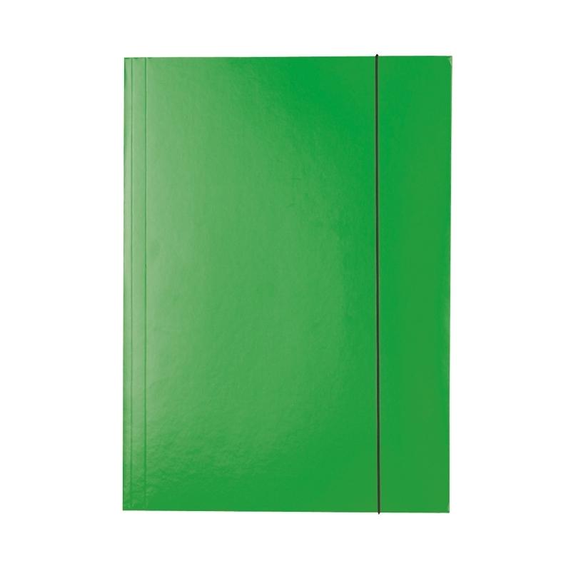 Teczka lakierowana A4 z gumką Esselte zielona