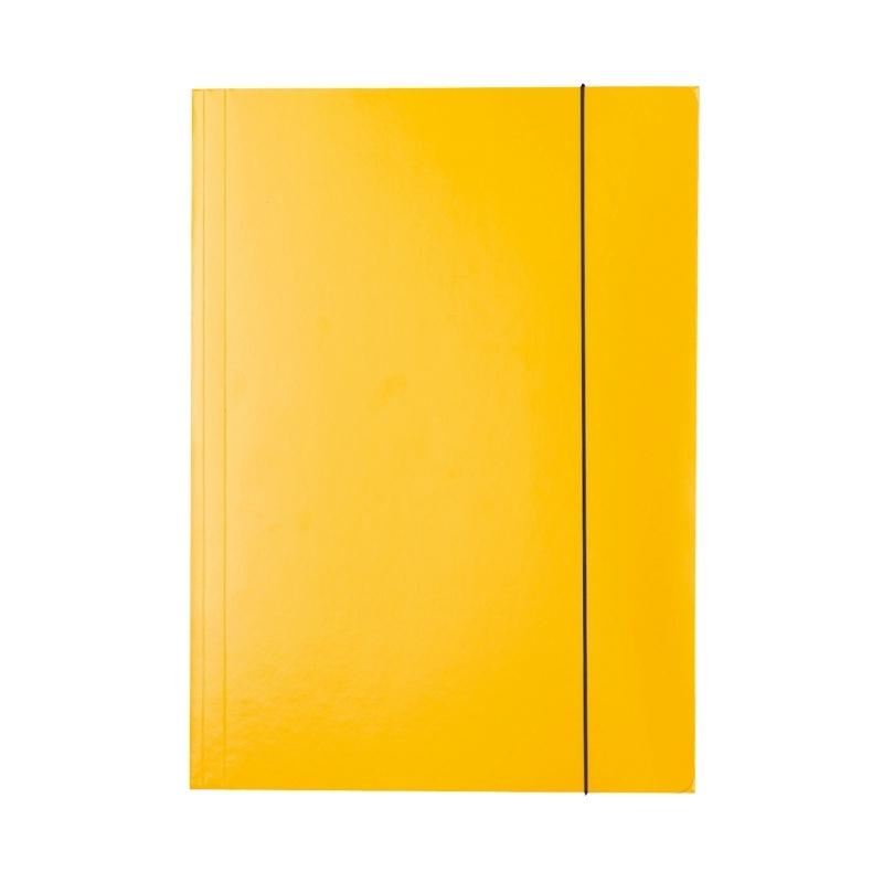Teczka lakierowana A4 z gumką Esselte żółta
