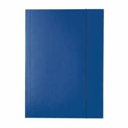 Teczka lakierowana A4 z gumką Esselte niebieska
