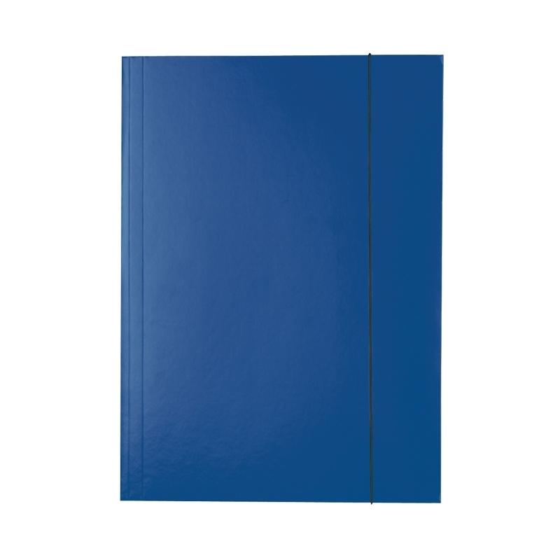 Teczka lakierowana A4 z gumkト� Esselte niebieska