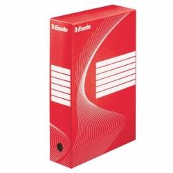 Pudło archiwizacyjne Esselte Boxy 80 mm czerwone