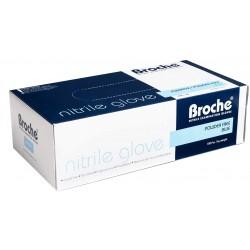 Rト冖awice nitrylowe bezpudrowe niebieskie 100 szt - S