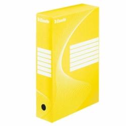 Pudło archiwizacyjne Esselte Boxy 80 mm źółte