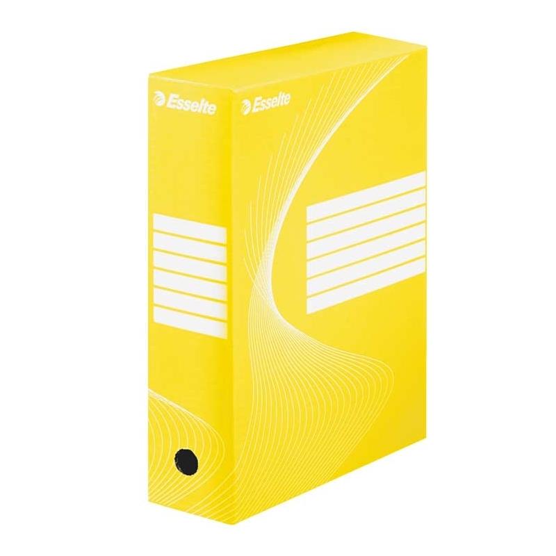 Pudło archiwizacyjne Esselte Boxy 100 mm żółte