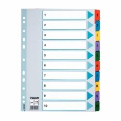 PrzekナBdki kartonowe Mylar A4 Esselte 1-10