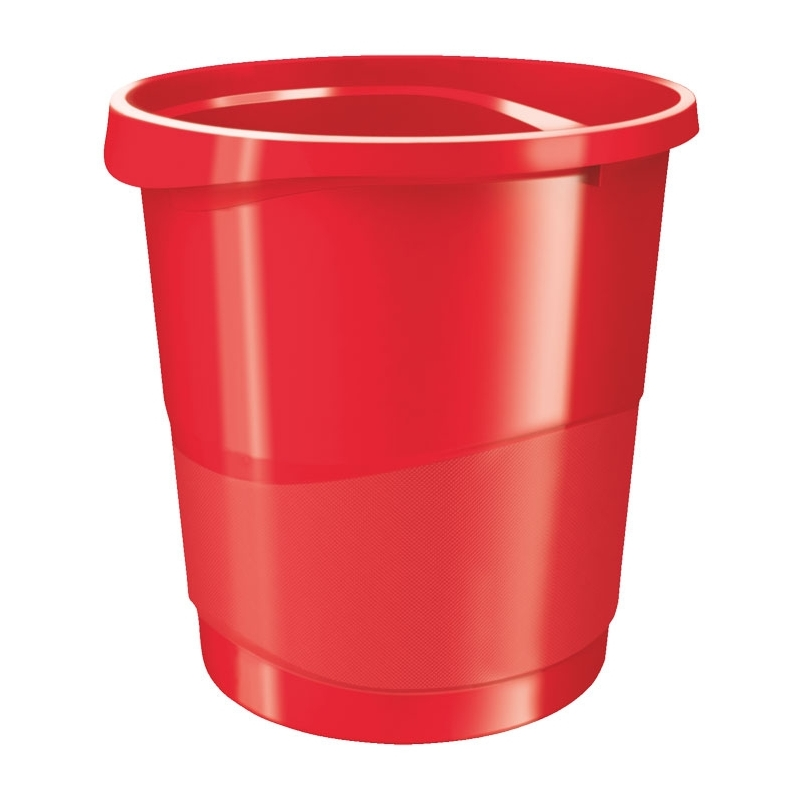 Kosz na śmieci Europost Vivida, 14 litrów czerwony