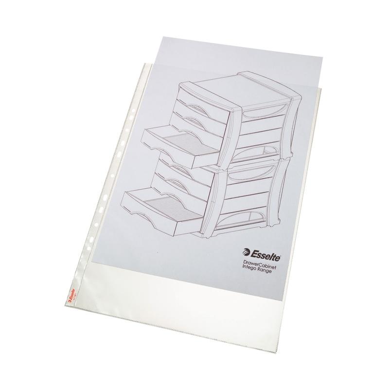Koszulka groszkowa Esselte A3, 85 mic., pionowa, opak. 10 szt