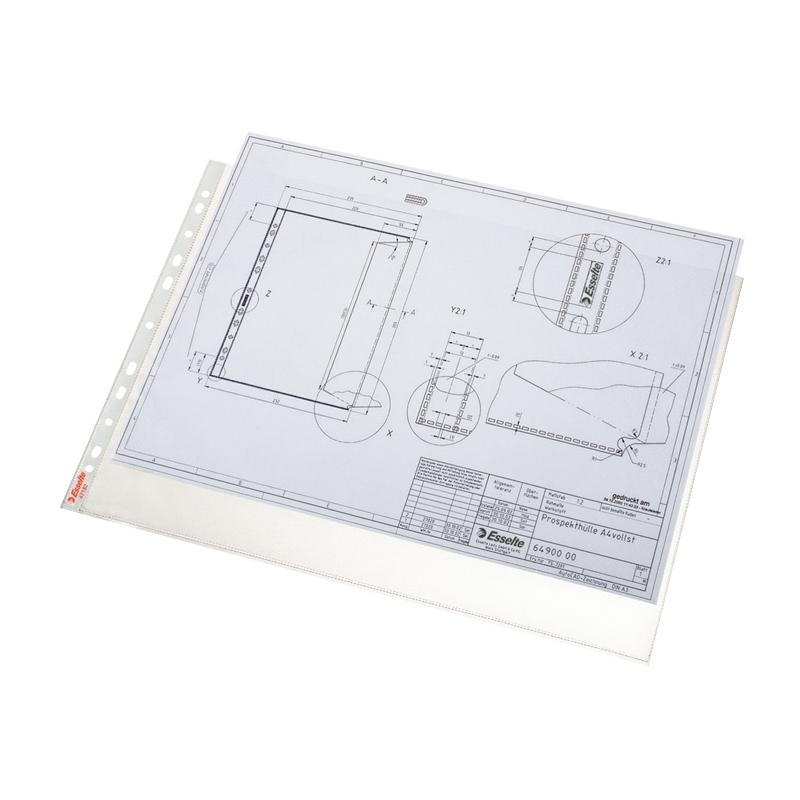 Koszulka groszkowa Esselte A3, 85 mic., pozioma, opak. 10 szt