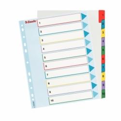 Przekładki kartonowe Mylar A4 Maxi Esselte 1-10