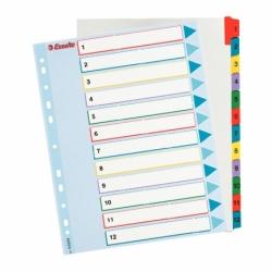 Przekładki kartonowe Mylar A4 Maxi Esselte 1-12
