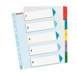 Przekładki kartonowe Mylar A4 Maxi Esselte 1-5