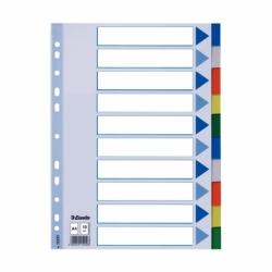 Przekładki plastikowe PP Esselte A4, 10 kart.