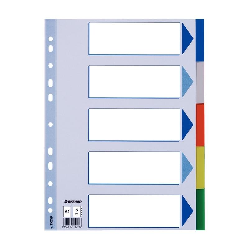 Przekładki plastikowe PP Esselte A4