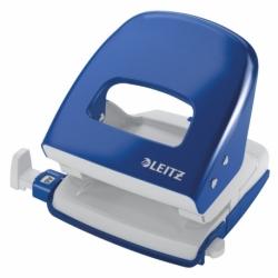 Dziurkacz Leitz 5008 metalowy, 30 kartek niebieski