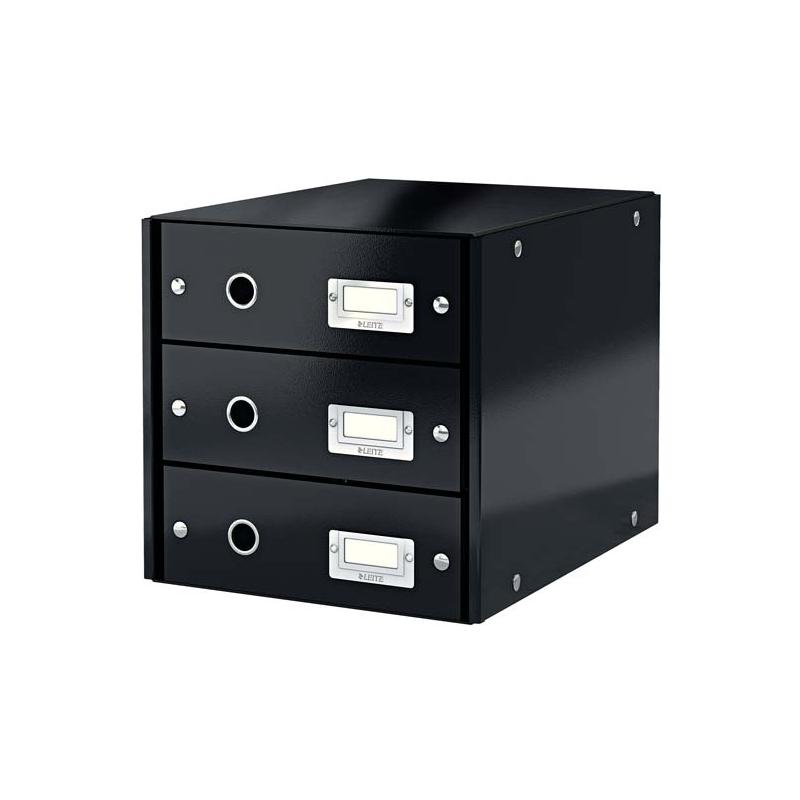 Pojemnik z 3 szufladami Leitz C&S czarny