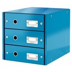 Pojemnik z 3 szufladami Leitz C&S niebieski