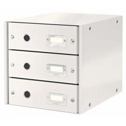 Pojemnik z 3 szufladami Leitz C&S biały