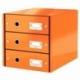 Pojemnik z 3 szufladami Leitz C&S pomarańczowy