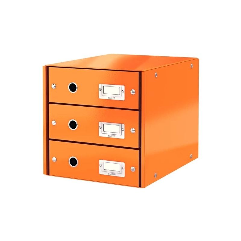 Pojemnik z 3 szufladami Leitz C&S pomaraナ�czowy