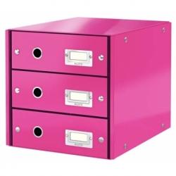 Pojemnik z 3 szufladami Leitz C&S różowy