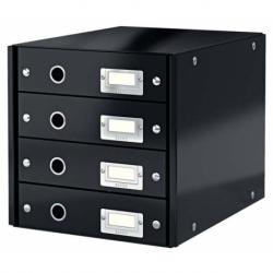 Pojemnik z 4 szufladami Leitz C&S czarny