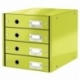 Pojemnik z 4 szufladami Leitz C&S zielony