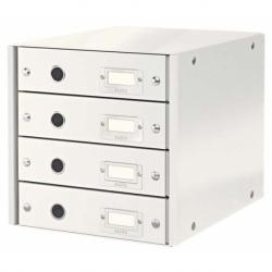 Pojemnik z 4 szufladami Leitz C&S biały